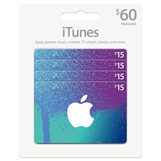 iTunes 60 $ Gift Card Multipack